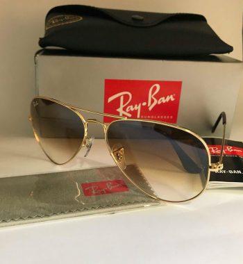 ÓCULOS RAY BAN AVIADOR GOLD   BROWN GRADIENT f9b52a81db